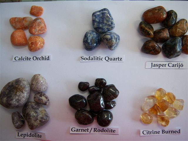 burned citrine and others